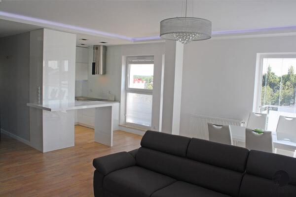 Kuchnia w stylu minimalistycznym – Apartamenty Preludium Wyszków
