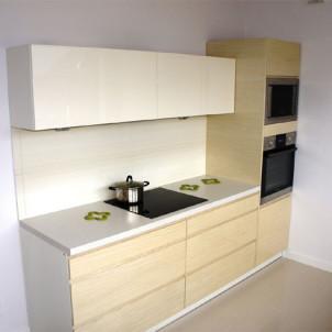 kuchnia w stylu minimalistycznym biel drewno warszawa