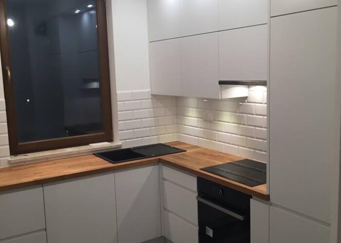 nowoczesne meble kuchenne białe laminowane mdf